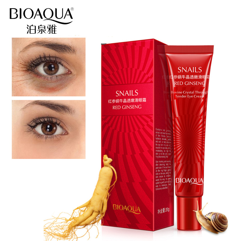 BIOAQUA Hyaluronic Acid Eye Serum Anti-Wrinkle Remover Dark Circle Eye Cream Against Puffiness Anti Aging Ageless Instantly 20ML