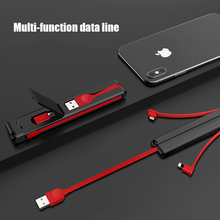 3 in 1 Multifunction USB Cable for Mobile Phone Micro Type C Charger For iPhone Charging Holder