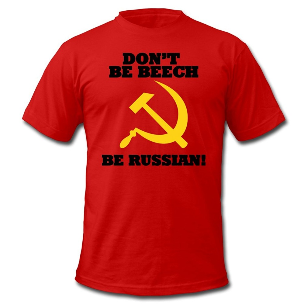 FPS Russia Be Russian Mens T-Shirt by American Apparel Print T shirts O neck Short Sleeves