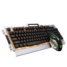 2017 K33 Wired LED Backlit illuminated Multimedia Ergonomic Usb Gaming Keyboard Gamer + 3200DPI 6 Buttons Optical Gaming Mouse