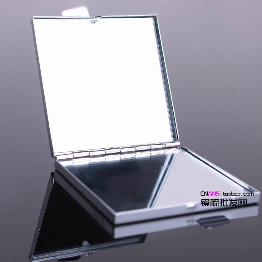 Haut Pflege Werkzeuge Qualifiziert 10 Pcs Platz Compact Spiegel Diy Tragbare Metall Kosmetik Make-up Spiegel-freies Verschiffen