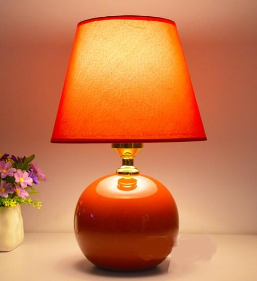 children's creative ceramic table lamp for Bedroom bedside lamp simple fashion garden wedding dimmable red pink FG742 ceramic table lamp bedroom bedside lamp european style garden wedding fashion warmly decorated lamp dimmable