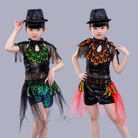 Songyuexia Children Jazz dance costume dance performance children's DS fashion sequins stage performance costume