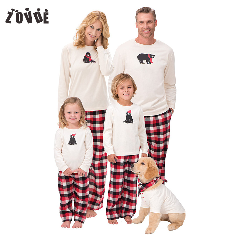 Family christmas pajamas 2018 Christmas Striped family matching outfits Cartoon Bear Long sleeve Family Look 1 Sets family christmas pajamas set striped pyjamas set family look matching family christmas pajamas navidad family matching clothes