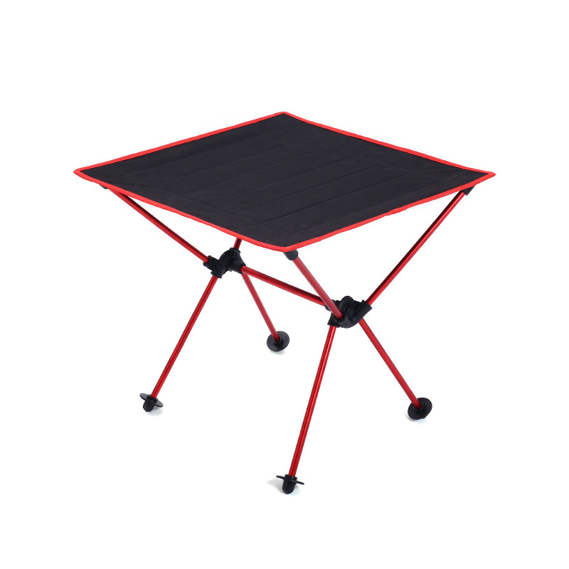 Ultralight Portable Outdoor Camping Table Foldable Oxford Cloth Leisure Desk Multipurpose Shelf Simple Picnic BBQ Stable Table multipurpose foldable outdoor attached table beach tables advertising exhibition table picnic desk