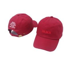 a4b877d385e31 2019 new wine red kendrick lamar damn cap embroidery DAMN. unstructured dad  hat bone women