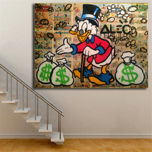 ALEC Monopolies Cartoon Duck Wallpaper Wall Art Canvas Posters Prints Oil Painting Pictures For Office Bedroom Home Decor
