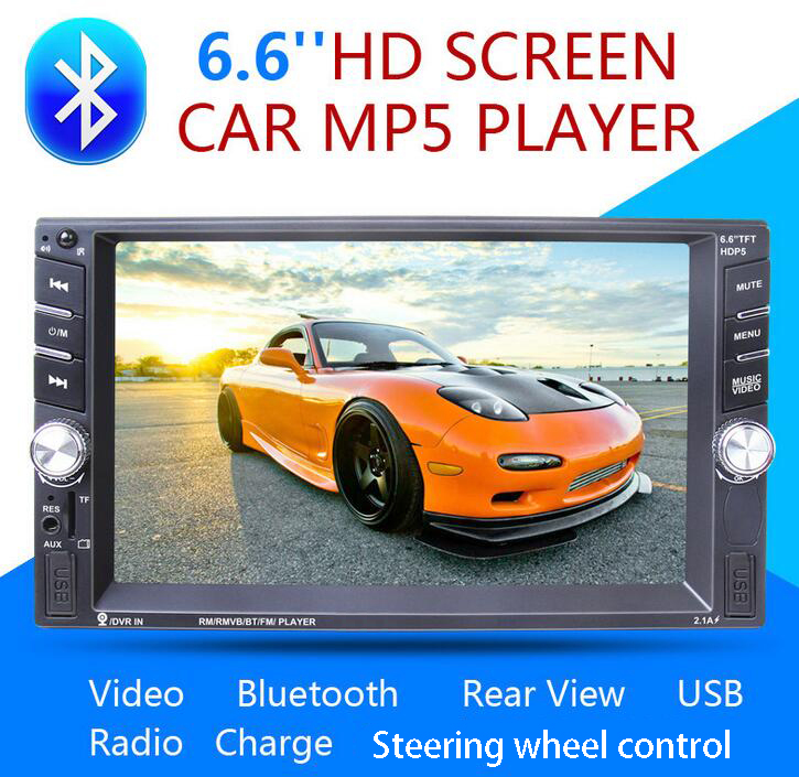2din Car Multimedia Player Bluetooth Stereo Radio FM MP3 MP5 Audio Video USB Aux Auto Electronic autoradio steering-wheel NO DVD