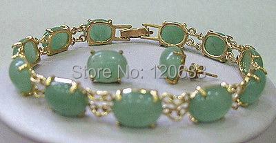 Настоящие натуральные бусины Красивая Зеленая жемчужина Красивые Серьги с драгоценными камнями браслет длиной 7,5 дюймов браслет дешевые браслеты серебряные ювелирные изделия