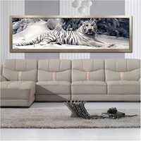 5D Rubik S Cube Diamond Painting 160X48CM The Head Of Bed Painting Series Crouching Tiger Decorative