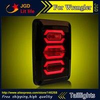 Стайлинга автомобилей задние фонари для Jeep Wrangler светодиодные Задний фонарь задний багажник крышка лампы DRL + сигнала + Тормозная + обратный