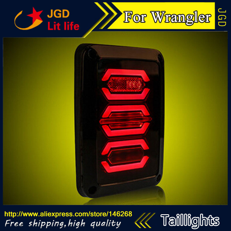Car Styling tail lights for Jeep Wrangler LED Tail Lamp rear trunk lamp cover drl+signal+brake+reverse lsrtw2017 car styling car trunk trims for honda crv 2017 2018 5th generation