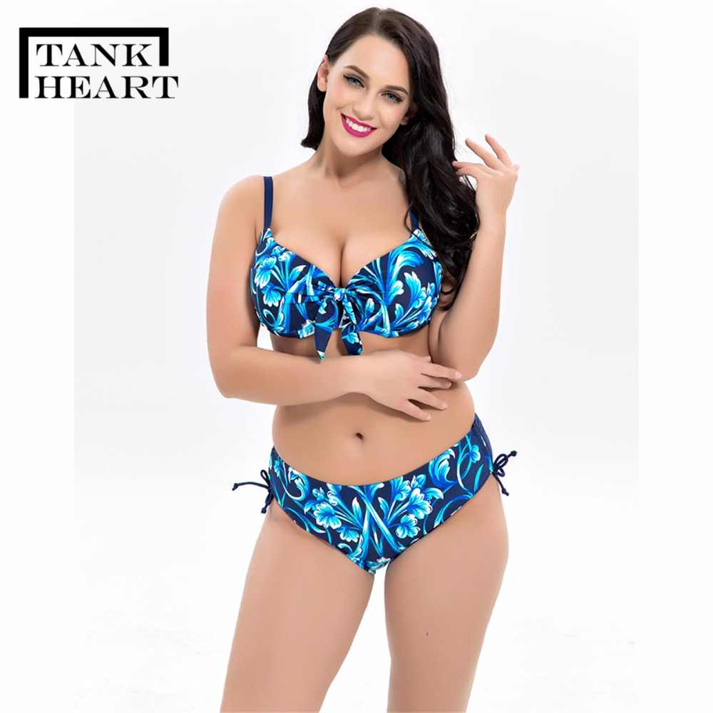 c70cbb9ff056c ... Tank Heart biquini Plus Size Swimwear Women Push Up Bikini Set Swimsuit  moda praia badpak Swimming ...