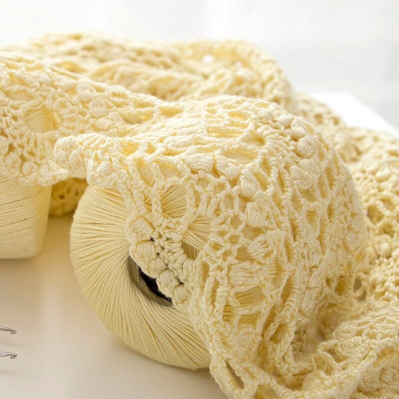 50g/ball 0.1CM Lace Yarn Crochet Yarn For Hand Knitting 100%Viscose Skincare Velvet Thin Crochet Soft Knitting Thin Thread