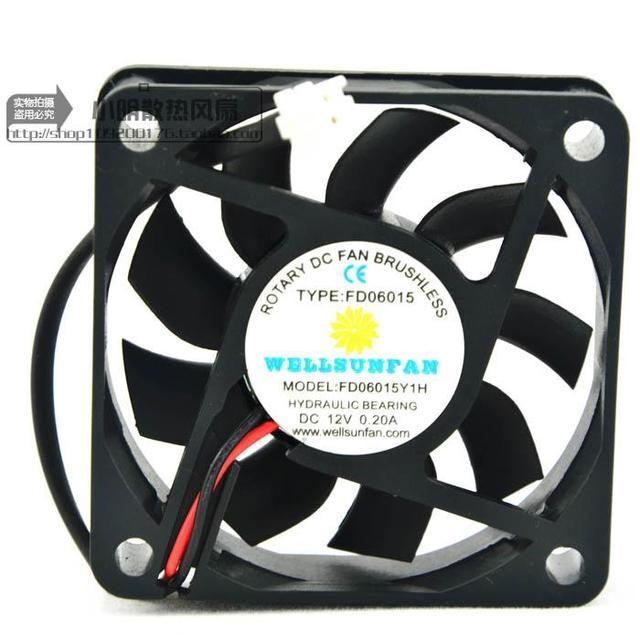 Entrega gratuita. FD06015Y1H 12 v 0.20 Un 6 cm energía de la CPU radiador pequeño ventilador