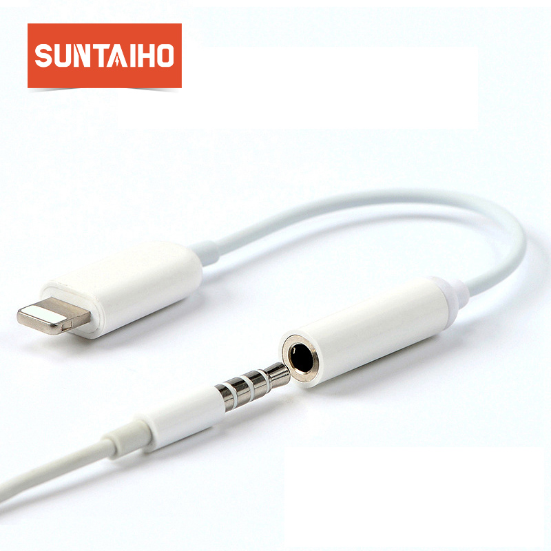 For Lighting to 3.5mm Audio Converter,Suntaiho For Fast charge to 3.5mm Audio jack adapter for iPhone 7 8 Plus/Xs Max XR X