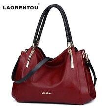 LAORENTOU Echtes Leder Luxury Handtaschen Designer Marke Damen Umhängetasche Lässig Einkaufstasche Mode Kuh Leder Frauen Taschen N50