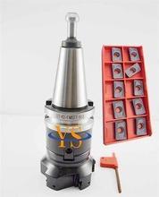 New  BT40 M16 FMB27 60L + BAP400R-80-27-6T face end mill  +10pcs APMT1604 carbide inserts  CNC milling