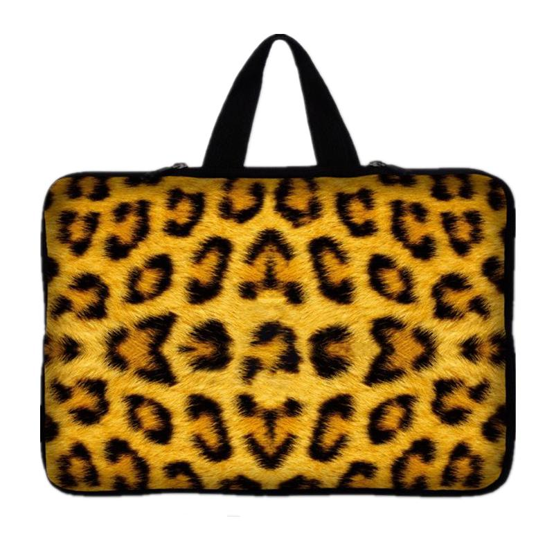 15 15.4 15.6 Leopard Laptop Messenger Sleeve Pouch Notebook Carrying Case Bag For macbook Pro 15.4-inch For Dell Asus Acer#10