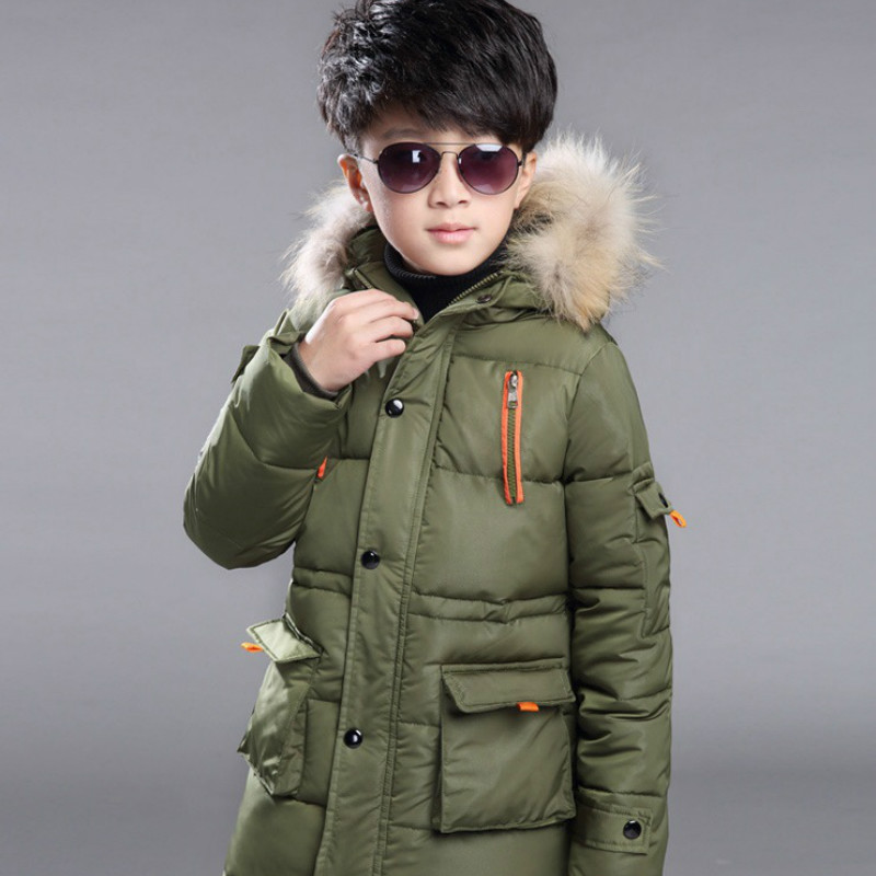 New Baby Boys Winter Coat 6 To 14 Years Hooded Children Patchwork Down Baby Boy Winter Jacket Boys Kids Warm Outerwear Parks 2018 thick kids winter coat boys parka jacket hooded children patchwork cotton baby boy winter jacket boys outerwear coats 3 12t