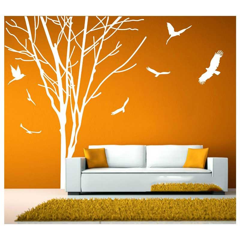 Stickers muraux muraux arbre géant branche tronc Stickers muraux amovible vinyle décalcomanie maison salon décoration