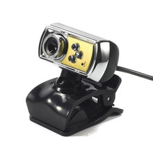 Hot Sale HD 12.0 MP 3 LED USB Webcam Camera with Mic & Night Vision for PC Orange High Quality
