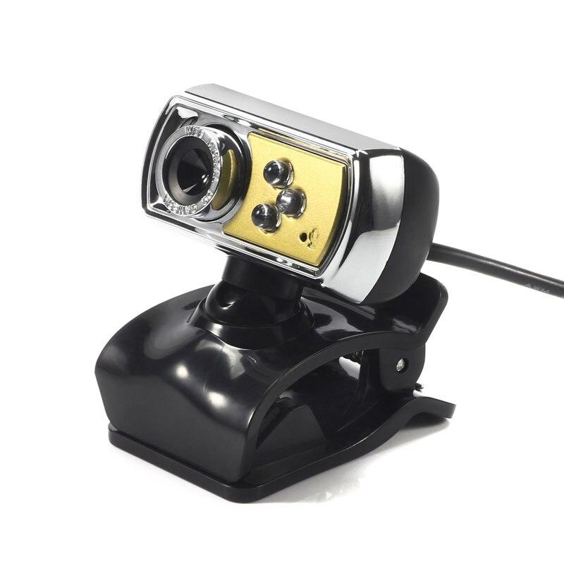 Universal 12 MP Na Webcam HD High-definition 3 LED USB Webcam Câmera com Mic Night Vision para PC Computador periféricos Amarelo novo