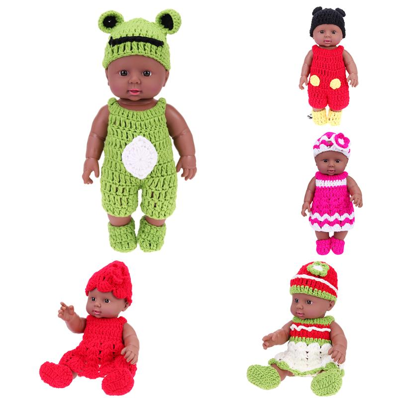 30cm Baby Doll Sweater Fashion Handmade Girls Dolls Changing Clothes for Kids Toys Dressing Up Costume Cute Crochet Doll Sweater