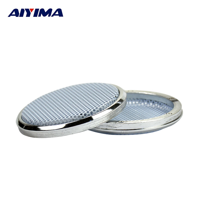 Aiyima 2PCS 1Inch Speakers Protactive Cover Plating Car Audio Speaker Cover Tweeters Grille Waffle Mesk Grills