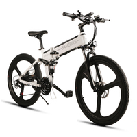 Samebike Cycling Electric Bike 21 Speed 10AH 48V 350W E Bike Electric MTB Bike Motor Foldable EBike Powerful Electric Bicycle