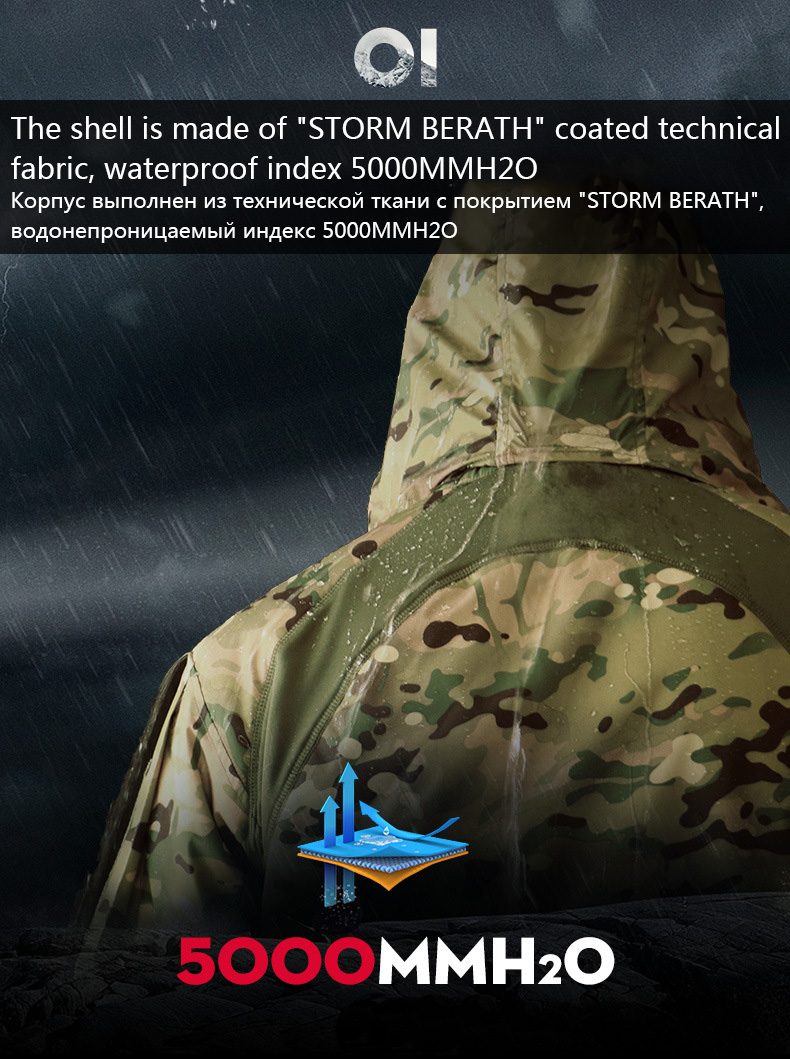 MEGE Men's Waterproof Military Tactical Jacket Men Warm Windbreaker Bomber Jacket Camouflage Hooded Coat US Army chaqueta hombre 71
