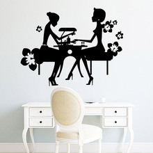 Personalized nail salon Removable Pvc Wall Stickers Decor Living Room Bedroom Decals