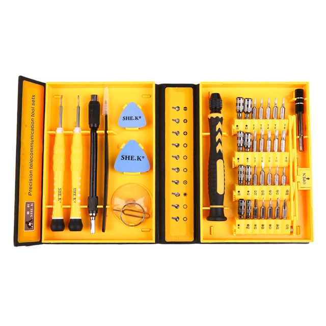 New Professional 38 In 1 Screwdriver Set Alloy Steel Material Repair Tools Kit Precision For Cell Phone For IPhone Notebook