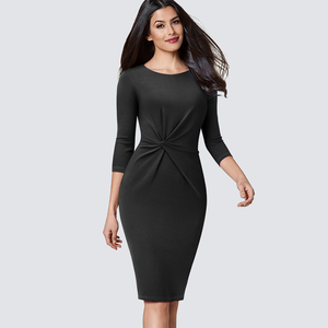 Image 2 - Elegant Work Business Sheath Pencil Office Lady Fancy Autumn Bodycon Formal Career Dress HB476