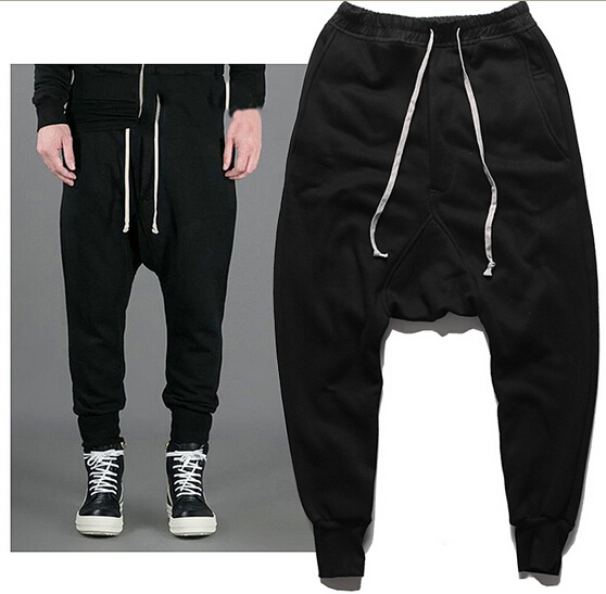 e4d08366a5 Harem Pants Casual Skinny Sweatpants Sport Pants Pantalon Homme Trousers  Drop Crotch Jogging Baggy Pants Men Boys Joggers HipHop