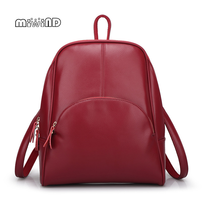 Backpack Women Genuine Leather Bag Women Bag Cow Leather Women Backpack Mochila Feminina School Bags for Teenagers Free Shipping