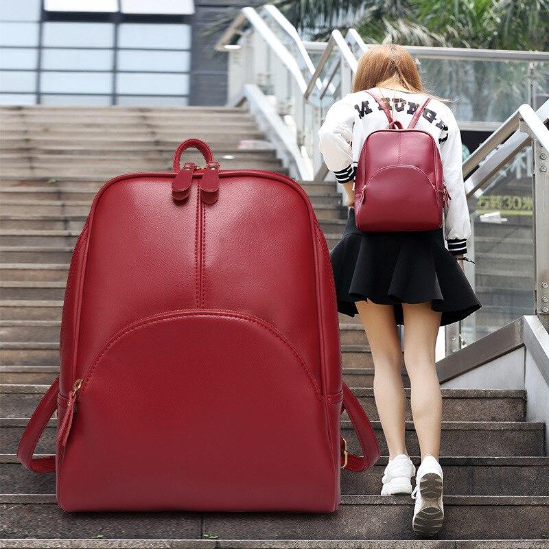 ФОТО Summer Brand Girls preppy backpack Women PU leather Backpack Big Size Softback Mochilas Casual School Bags For Teenage Students