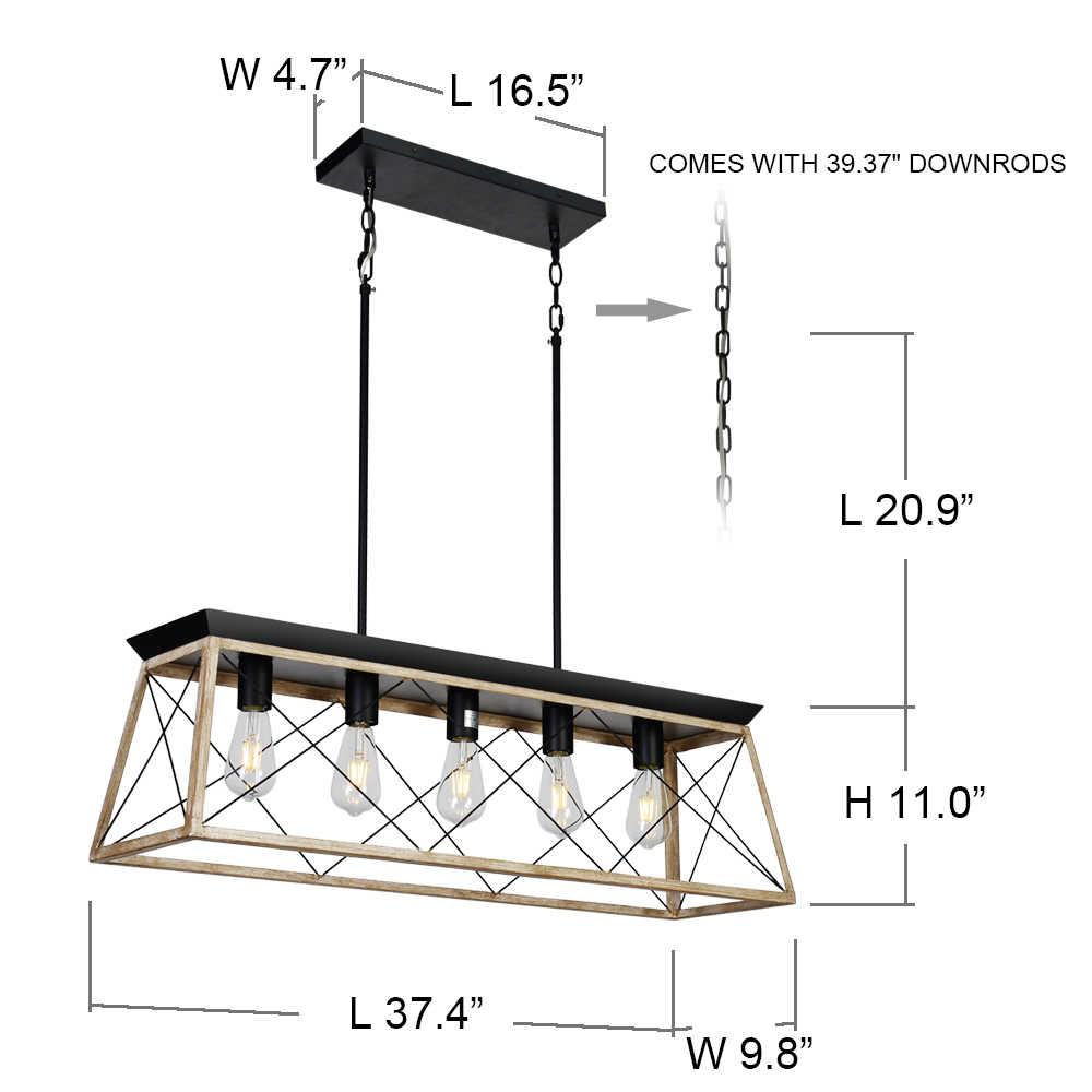Современные металлические прямоугольные люстры подвесное освещение для гостиной столовой отеля Ресторан подвеска блеск