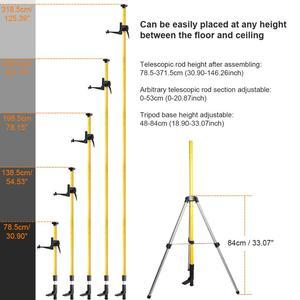 """Image 2 - Huepar 12 Ft./3,7 m Laser Stativ Teleskop Pole mit 1/4 Zoll durch 20 Inch Laser Montieren für Rotary Enthalten LP36 & 5/8 """" 11 Adapter"""