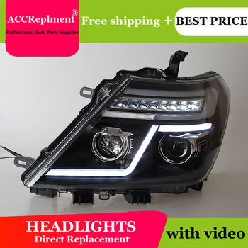 Car Styling for Nissan Tourle Headlights 2012-2019 Patrol LED Headlight Lens Double Beam H7 HID Xenon bi xenon lens