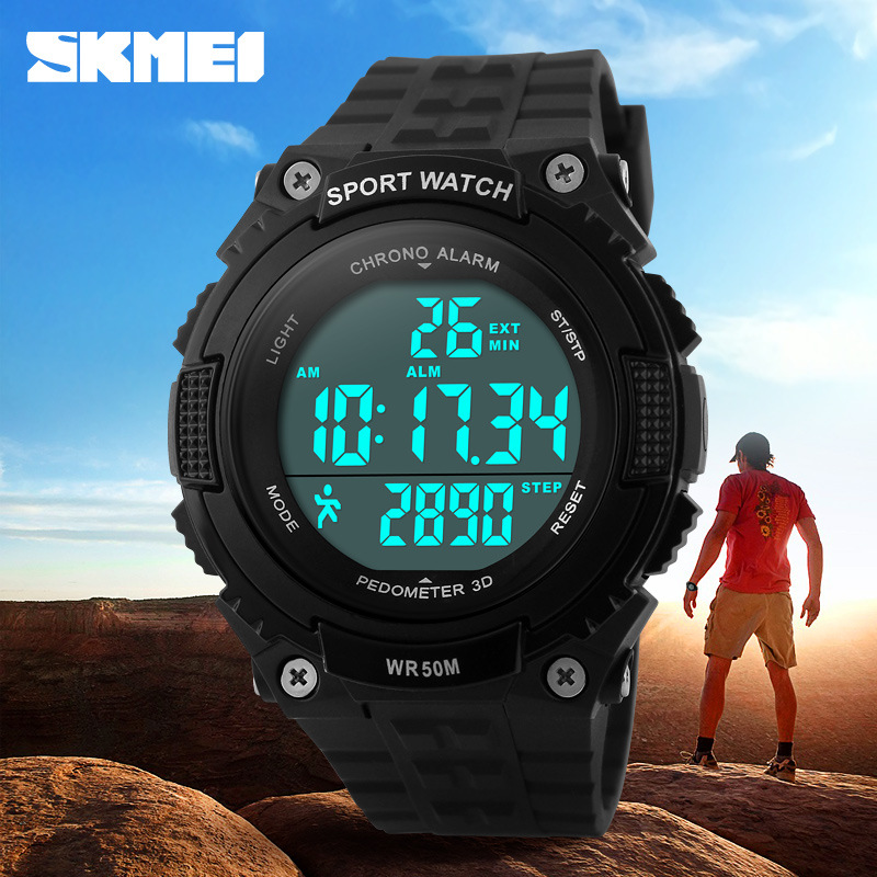 Digital Wristwatches SKMEI Round Military Men Led Outdoor Waterproof 50M 1112 Dial Brand