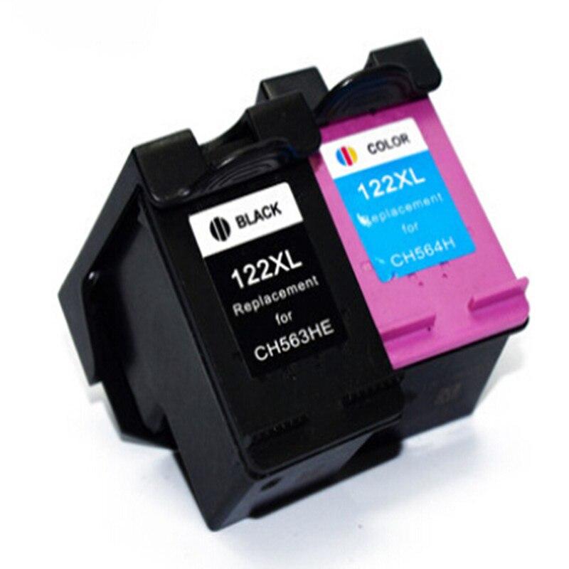 Hisaint 1 Set per HP 122XL CH563HE e Nero CH564HE Tri-Color Ink cartuccia Per HP Deskjet 1000 1050 2000 2050 Stampante a getto D'inchiostro