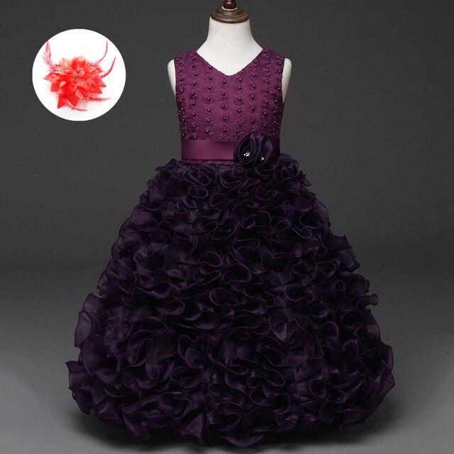 Kleines Mädchen Abendkleider Kommunion Organza Blau Weiß Rot Pink ...