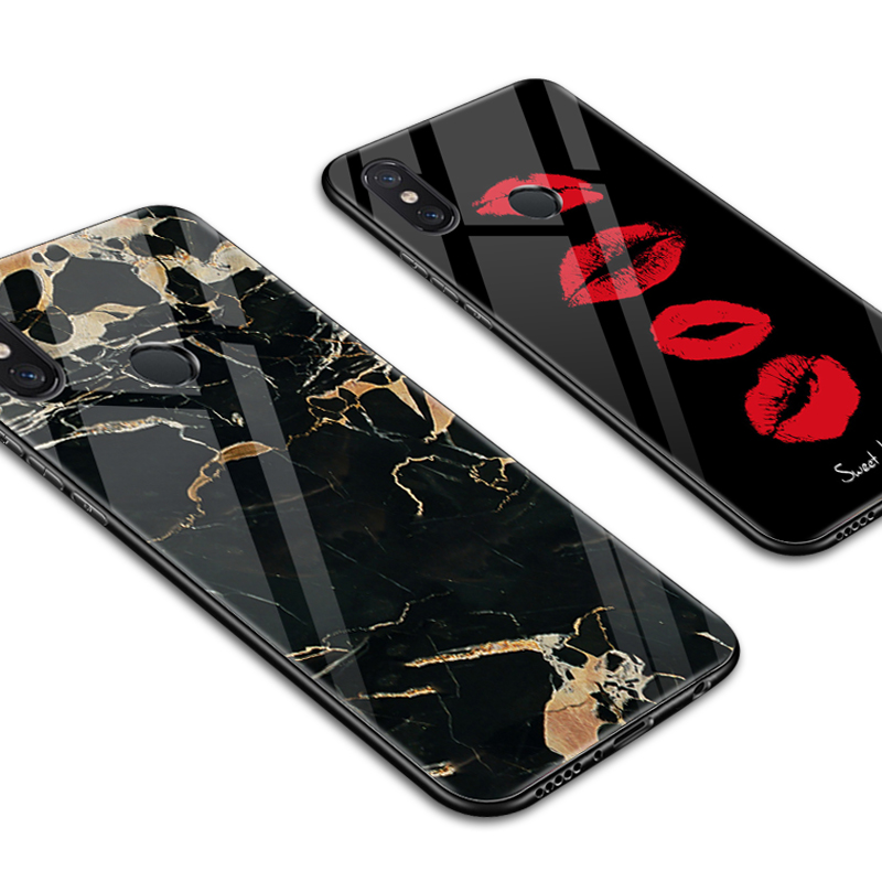 Bright Glass Phone Case Xiaomi Mi8 Se Mi A2 Lite Painted Protective Back Cover Cases Xiaomi Redmi Nota 6 Pro Redmi 6a Pro Mi Max 2 Max3 Reliable Performance