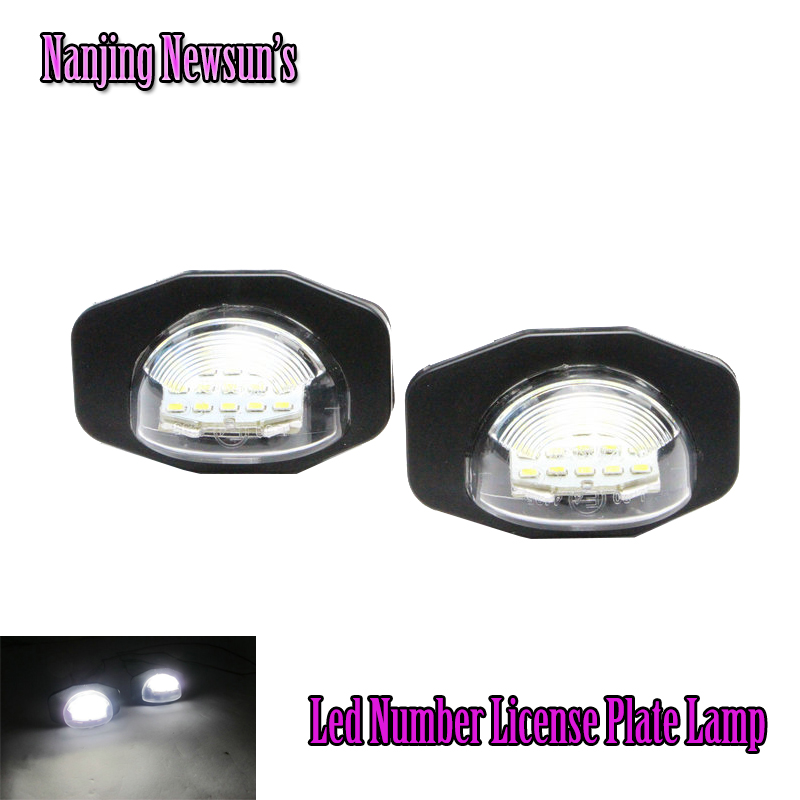1Pair Direct Fit Led Number License Plate Lamps Light For Toyota Corolla Sienna Scion XB XD