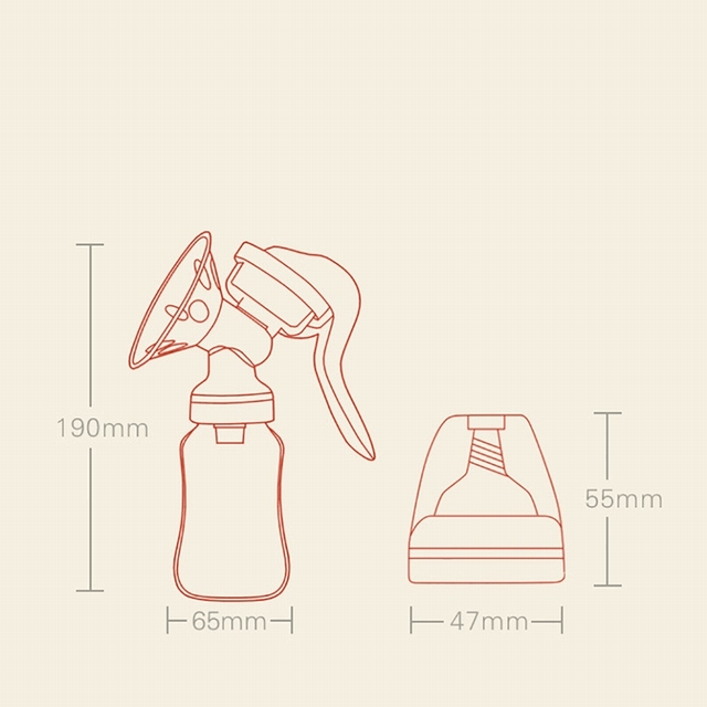 Manual Breast Pump Baby Feeding Tool And Milk Bottle