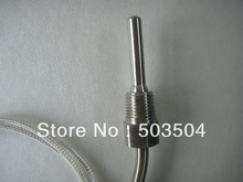 thermocouple with compensating cable, pt100, SS braid cable , fast delivery