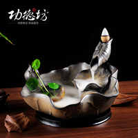 Merit Fang King Lotus Moonlight back wood incense burner base ornaments best selling creative Lotus incense