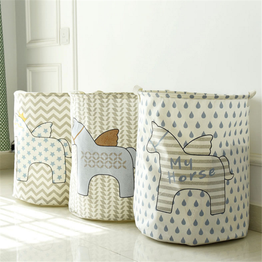 Free-shipping-Laundry-Basket-Storage-40-50cm-Large-Basket-For-Toy-Washing-Basket-Dirty-Clothes-Sundries
