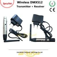 3 DMX512 Litewinsune 2pcs FREESHIP 2.4G ISM Sem Fio Pinos XLR Receptor de Transmissão do Dispositivo para o LED de Iluminação de Palco Em Movimento iluminação